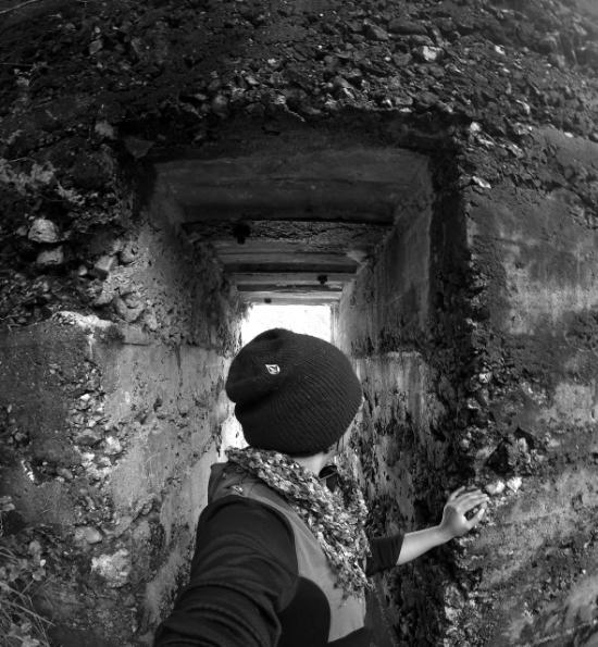 Exploring the old mining ruins at Karangahake Gorge Historic Walkway.
