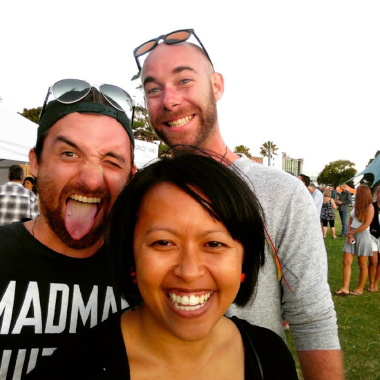 My friends Sam, John and I at The Gourmet Picnic in Mount Maunganui. Great food, awesome company - a snapshot of new beginnings.