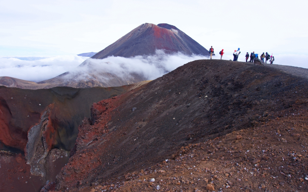 The Red Crater - a worthy reward for a few hours of hiking.