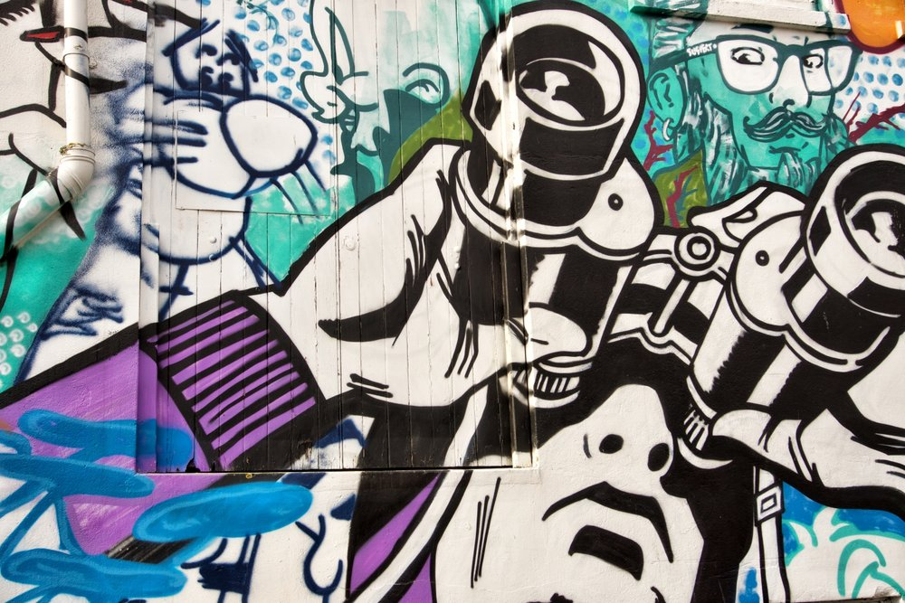 There's awesome street art in New Plymouth, this one I found on a recent trip this year.