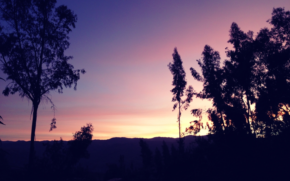 Sunset from Christian's house - a beautiful way to end the day.