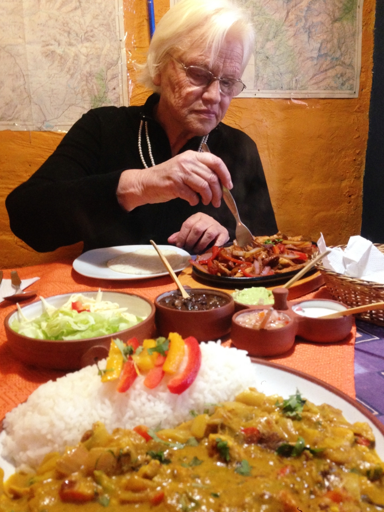 Meet Martha, she's 73 years old and moved to Peru for love. We had lunch together on Christmas Day at one of the restaurants near our work.