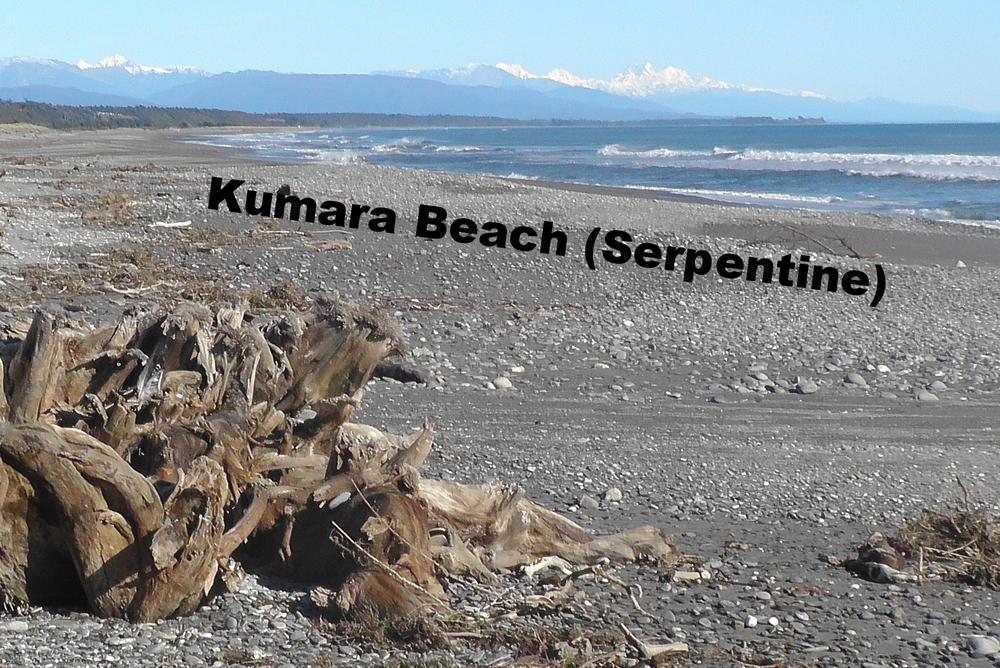 Kumara Beach (official start line of the Coast to Coast)