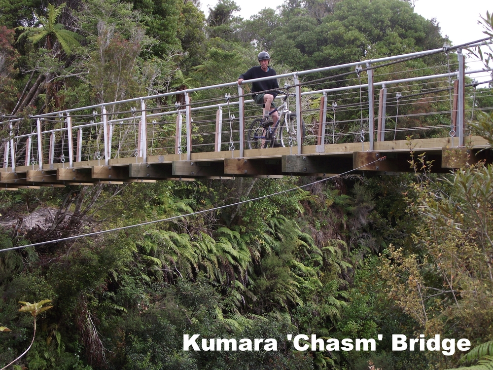 Kumara Chasm Bridge, West Coast Wilderness Trail
