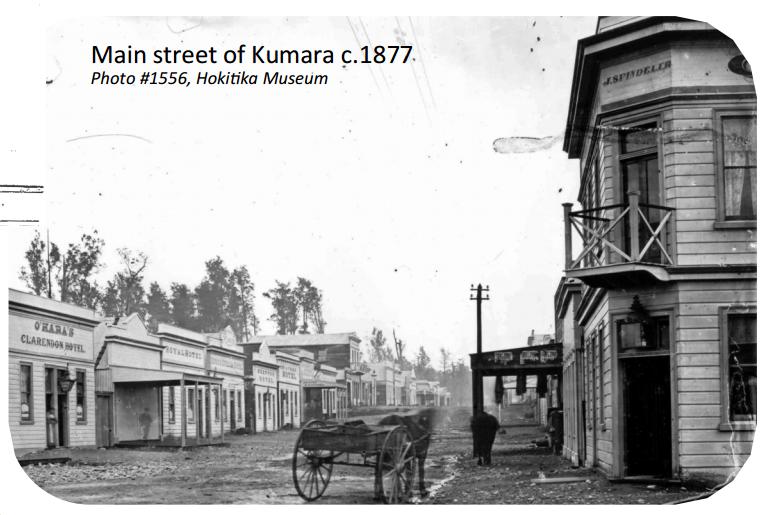 Main Street of Kumara 1877
