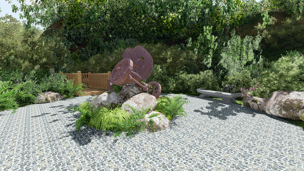 Sculpture Garden Artists Impression