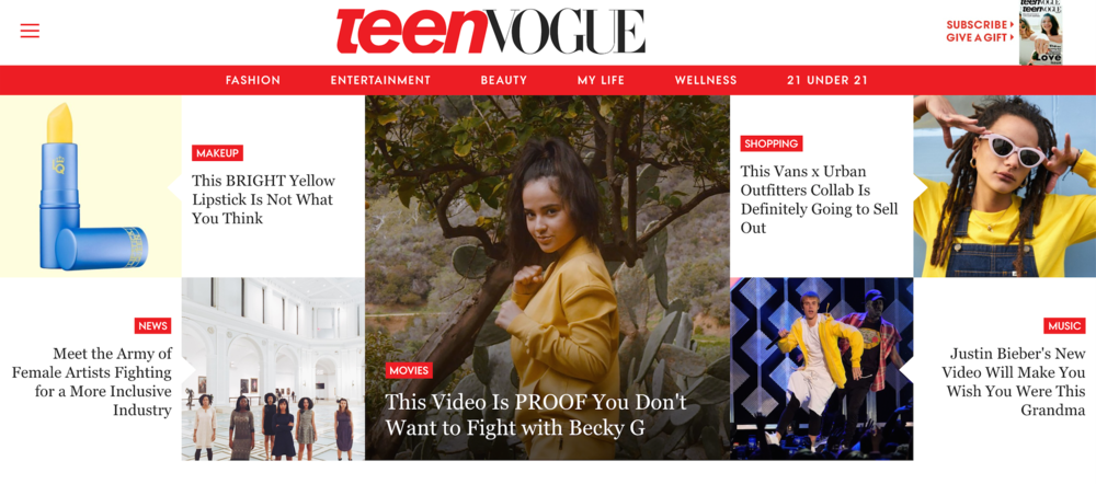 TEEN VOGUE + AGA