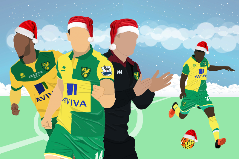 We asked for a Christmasy Norwich drawing, and we weren't disappointed