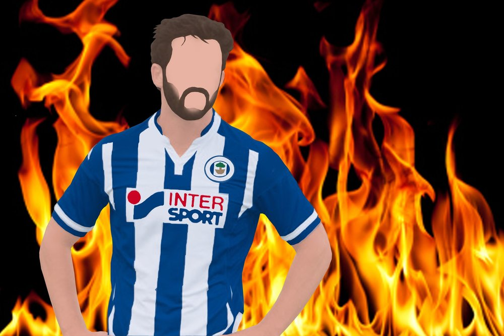 Will Grigg and flames.