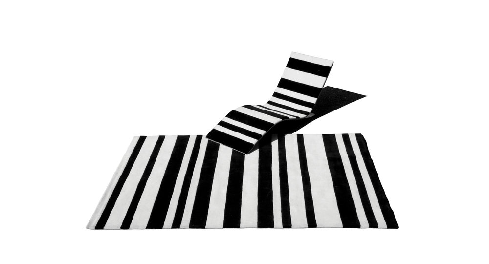 Barcode Rug & Chaise longue