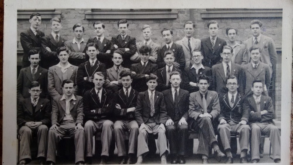 St Bede's prefects 1946-47 peter Naughton 2nd from right front row