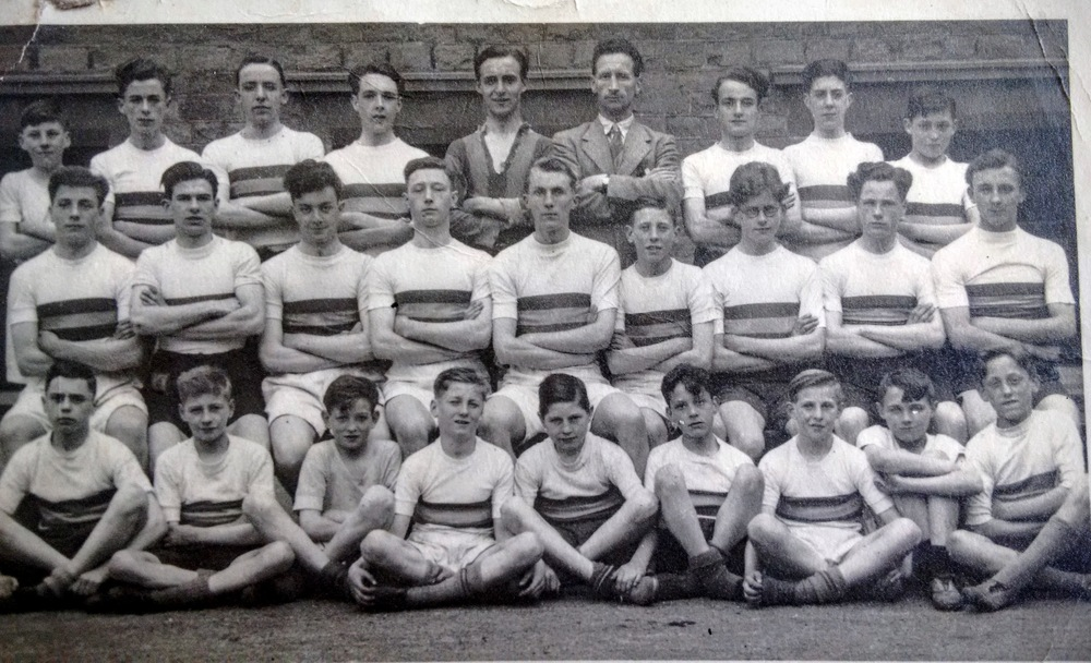 st bede's athletics team 1947, peter naughton middle row far right