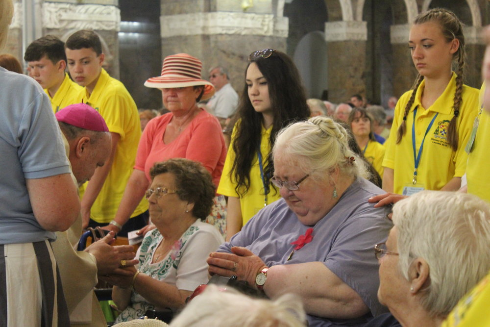 Tending the sick at lourdes