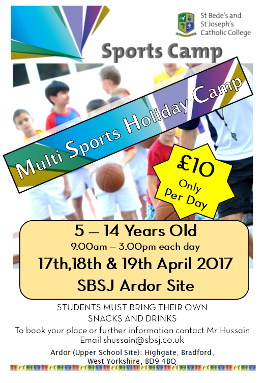 April sports camp