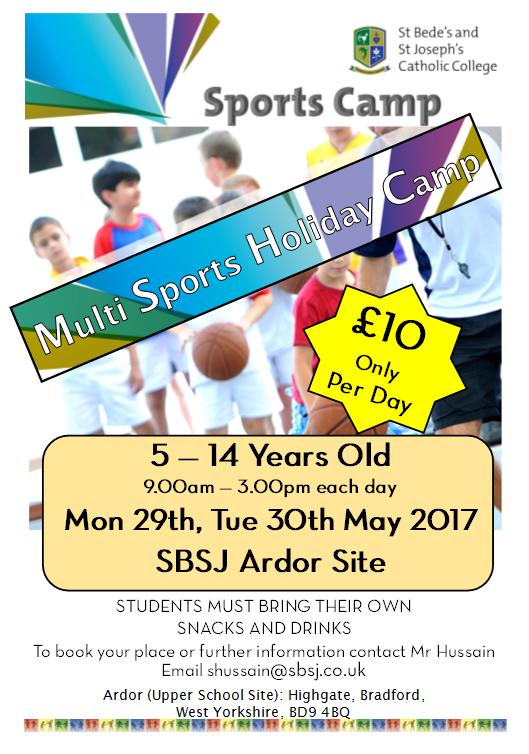 May Sports camp