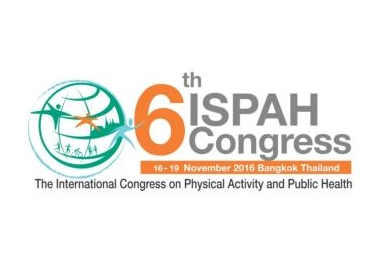 The 6th International Congress On Physical Activity And Public Health 2016 Wass Co Hosted By Thai Promotion Foundation ThaiHealth