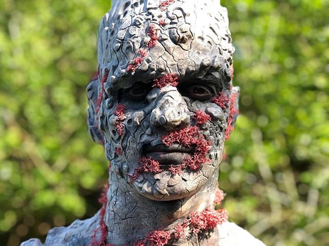 I am Adamastor, a human manifestation of Table Mountain ⛰🎭🎥 #tablemountain #rockman #southafrica #acting #filming #prosthetics #makeup #LouisMadeMe