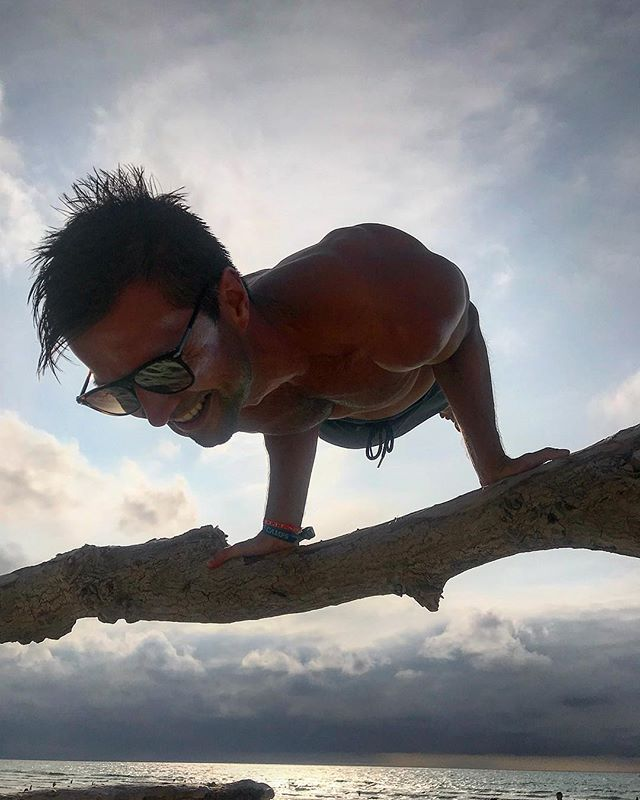 Floating driftwood 🌅🆙😎 #molliets #southfrance #calisthenics #planche #bodyweighttraining #beachtraining #LouisMadeMe