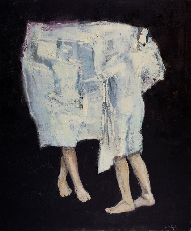 İsimsiz/ Untitled  80x90cm, tuval üzerine yağlıboya/oil on canvas, 2015  Palimpsest Memory Solo Exhibition @ Harmony Art Gallery    (Özel Koleksiyon/Private Collection)