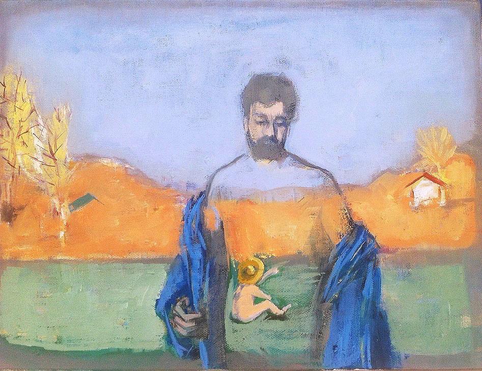 Otoportre / Self Portrait  30x40cm,tuval üzerine yağlıboya/ oil on canvas 2015  Palimpsest Memory Solo Exhibition @ Harmony Art Gallery    (Özel Koleksiyon/Private Collection)