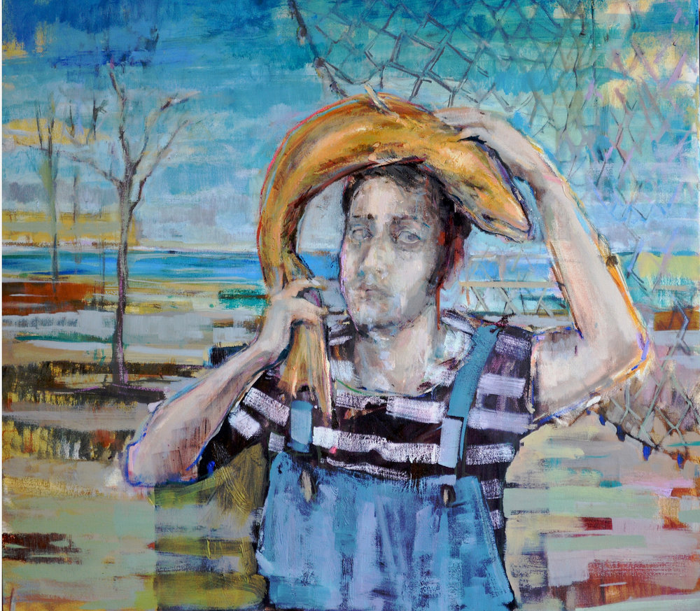 Self Portrait / Otoportre   80x90, oil on canvas/ tuval üzerine yağlıboya, 2014   Independent Art Collective Pipo @ Artist Art Fair 2014   Face to Face @ Peker Art Gallery    (Private Collection/ Özel Koleksiyon)