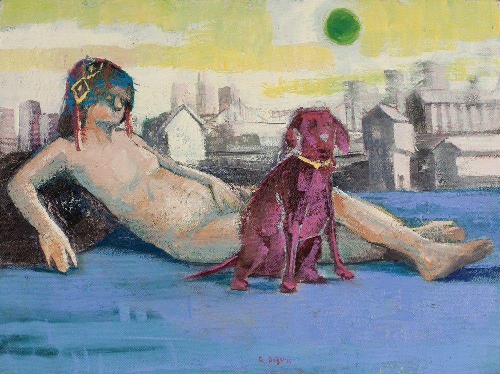 Venus with Mars / Venüs lie Mars   40x30cm,oil on canvas / tuval üzerine yağlıboya 2014  Palimpsest Memory Solo Exhibition @ Harmony Art Gallery 2015   (Private Collection/ Özel Koleksiyon)