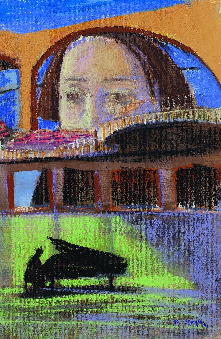 Romeo &Juliet    26x38cm,soft pastel on paper // kağıt üzerine üzerine toz pastel 2014  Palimpsest Memory Solo Exhibition @ Harmony Art Gallery 2015   (Private Collection/ Özel Koleksiyon)