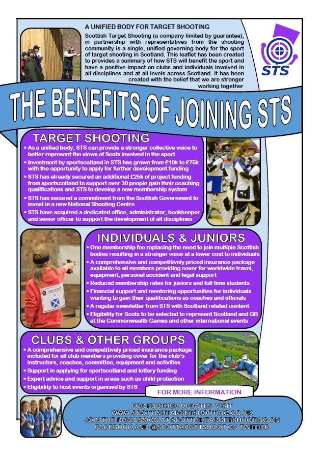 STS Benefits Poster (Page 1)