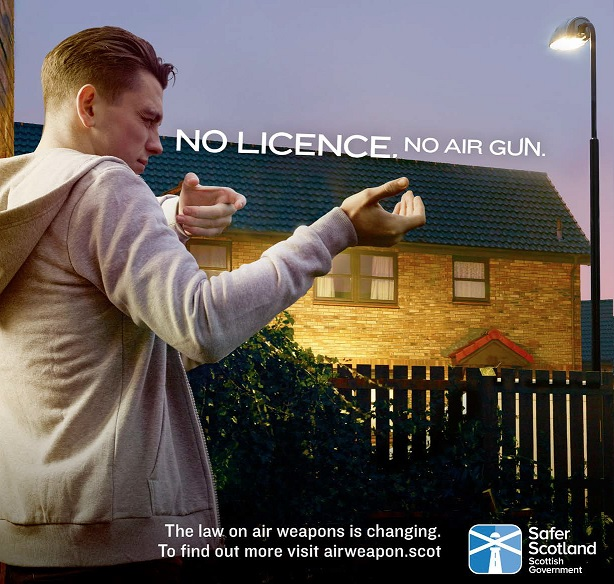 Scottish Government Air Weapons Poster