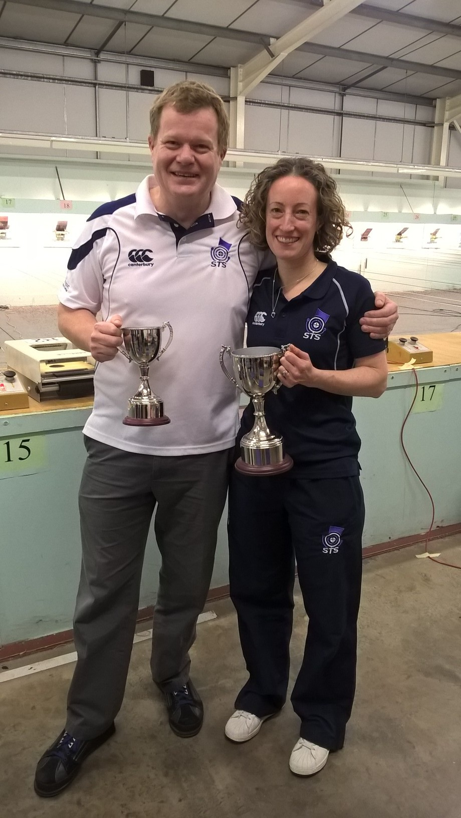 Alan Goodall & Caroline Brownlie enjoy success for a second time in January 2017 at the NISC and Geoff Partridge Memorial event