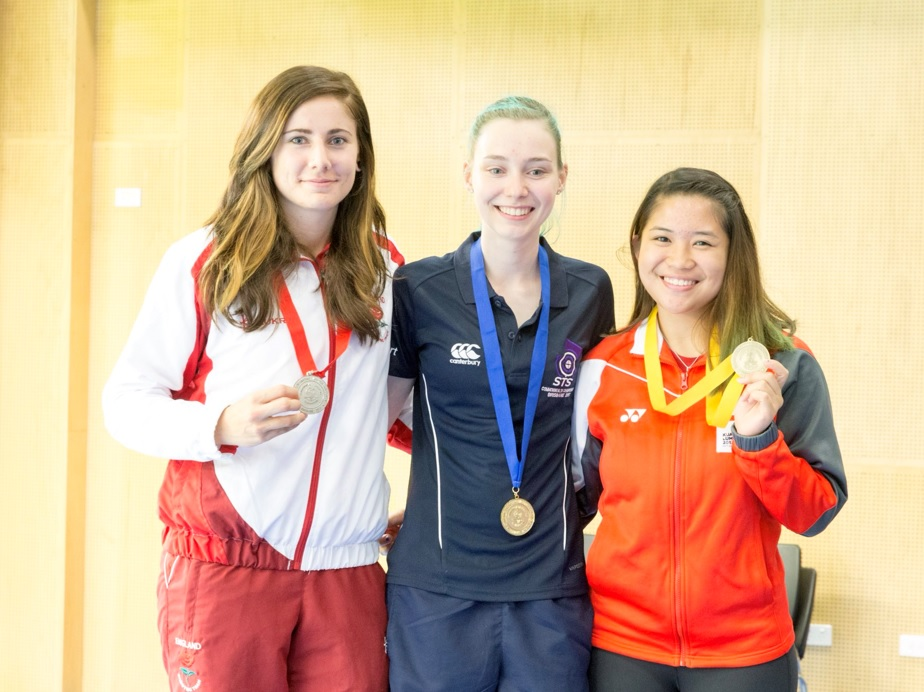 Seonaid McIntosh wins her second medal of the CSF Championships and her first gold by wining the 50m 3P Rifle Competition