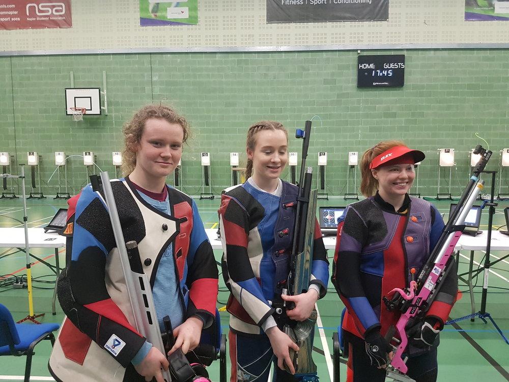 Winners - Women's Junior 10m Air Rifle Championships