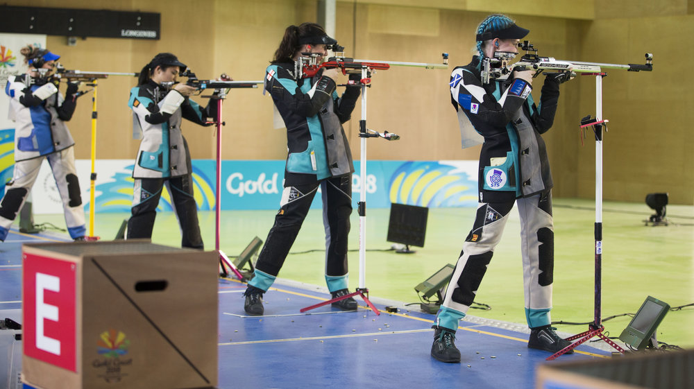 Jennifer (far left) and Seonaid (far right) competing in the final