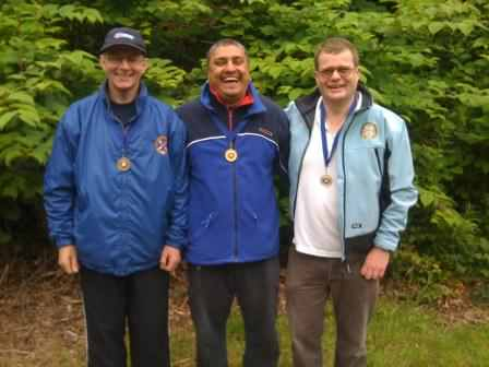 Saturday Medallists (left to right) Kevin Gray, Iqbal Ubhi & Alan Goodall