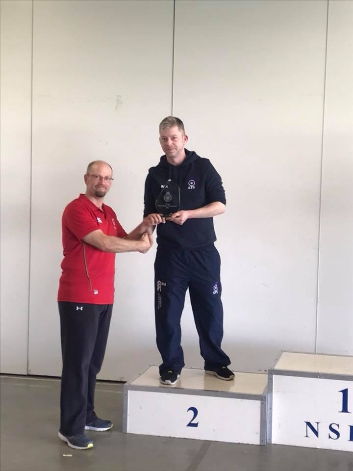 Ruaraidh receiving his silver medal
