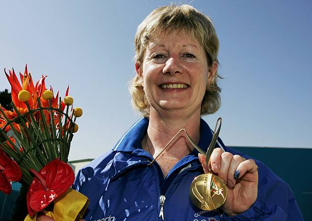 Sheena winning individual Gold at the 2006 Commonwealth Games