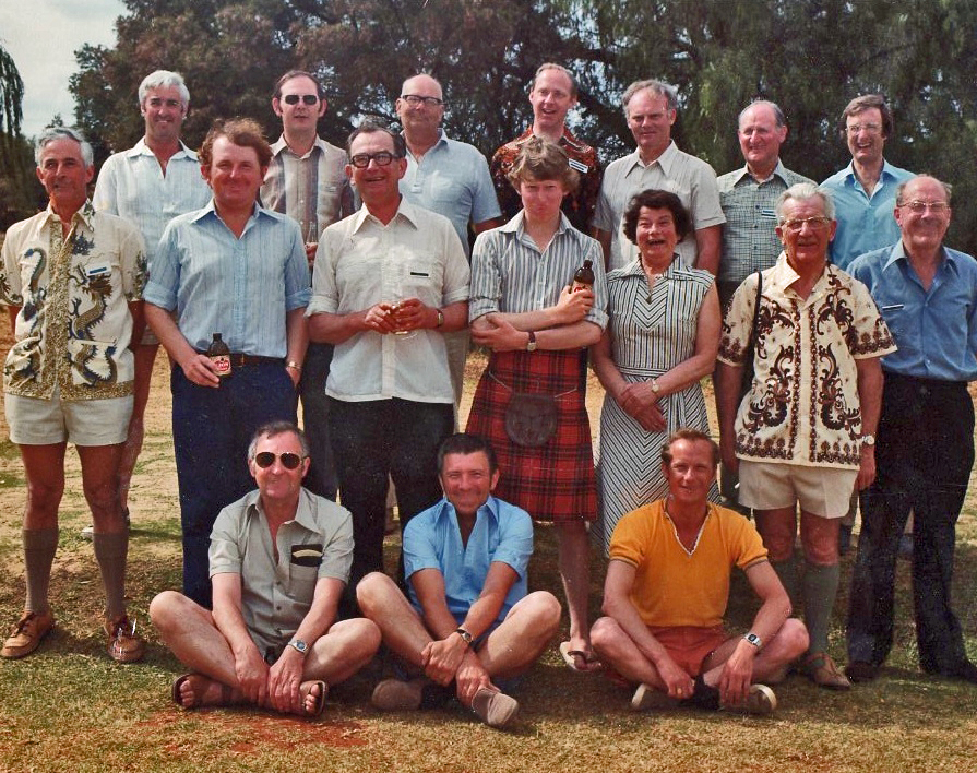 John Glen, pictured here middle row, 3rd from left, when he was captain of the Scotland Team touring the Isle of Man in 1978.