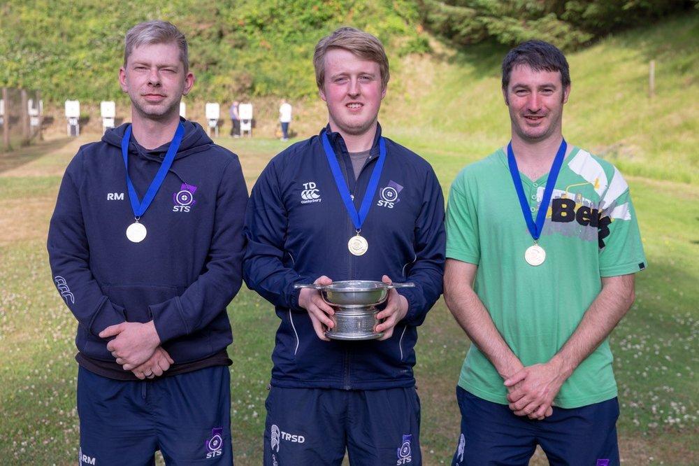 Men's 3P Confined Winners - (L to R) Ruaraidh Macleod, Tom Diggle, Lenny Thomson