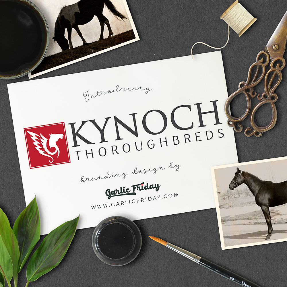 The new primary logo for Kynoch Thoroughbreds