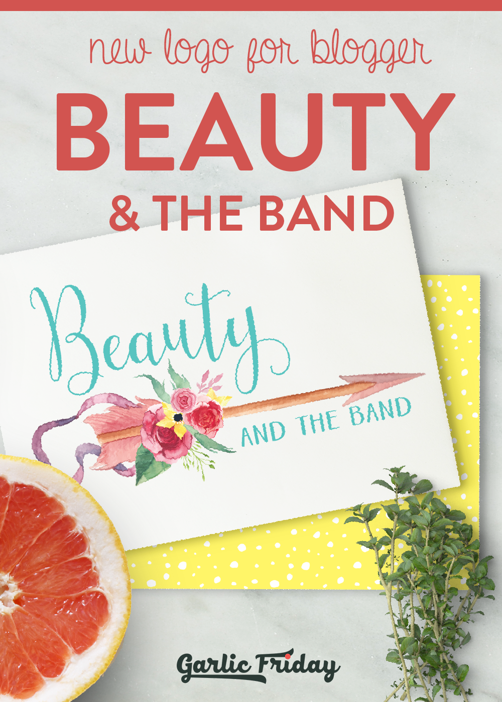 New logo for blogger Beauty & the Band by Garlic Friday Graphic Design