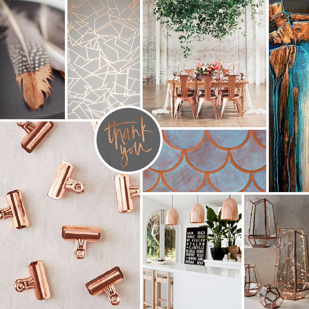 Moodboard Copper Theme Inspiration Branding Style Brand Theme