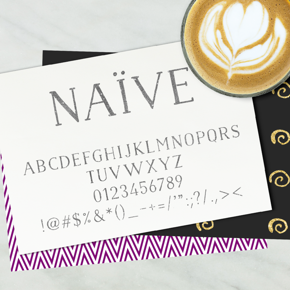 Font Friday - Tres Chic Handwritten Font: Naive