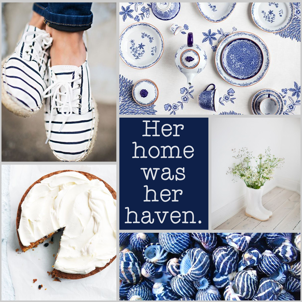 Monday Moodboard #09 - Blue Haven - See more colour palette and design inspiration at www.garlicfriday.com
