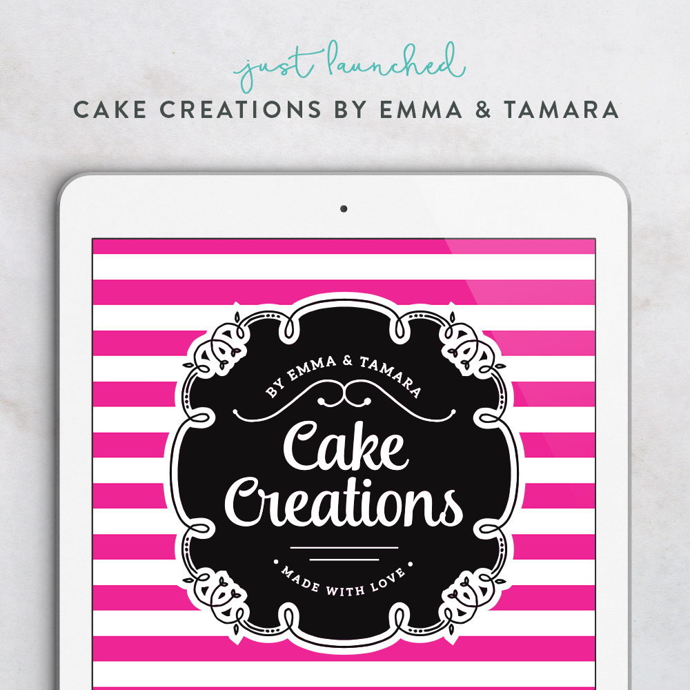 Cake Creations Logo & Brand identity - Cake Shop Baking Logo by Garlic Friday Design