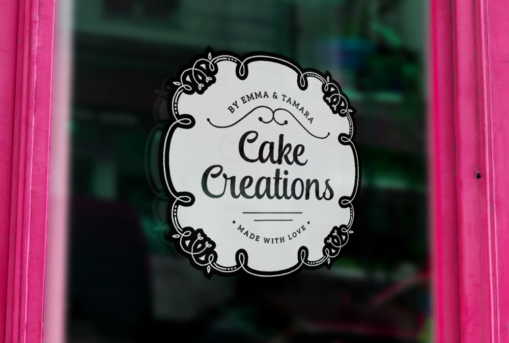 Cake Creations by Emma & Tamara - Logo and Brand Identity created by Garlic Friday Design
