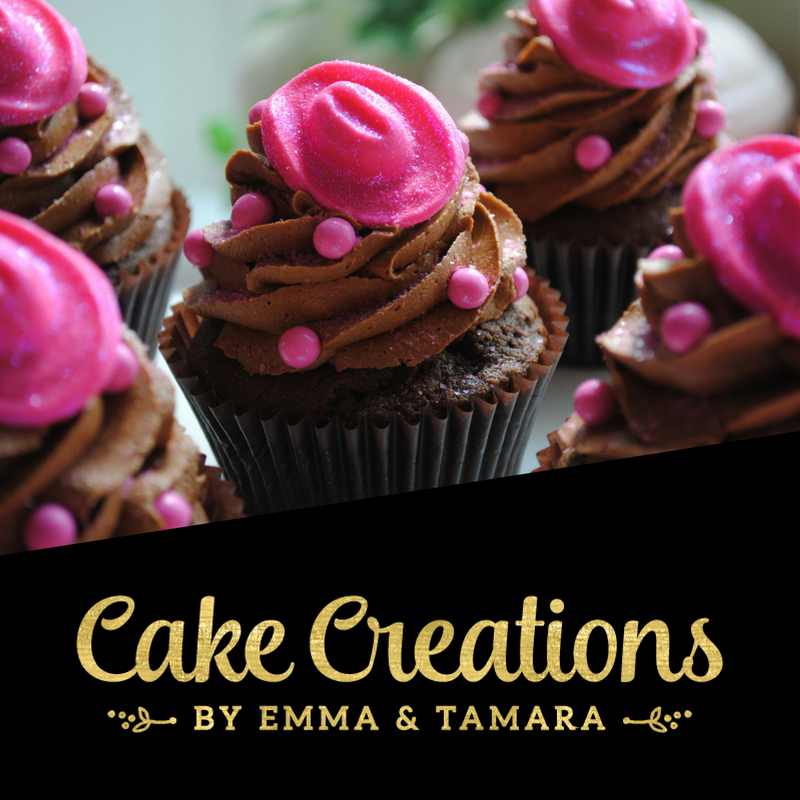 Cake Creations by Emma & Tamara - Logo Design & Brand Identity by Garlic Friday Design