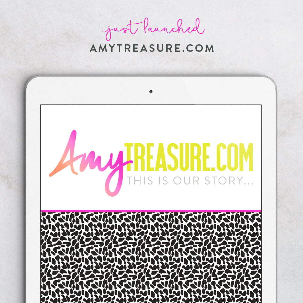 Blogs, Neon Fun & Leopard Print - the brand story for AmyTreasure.com