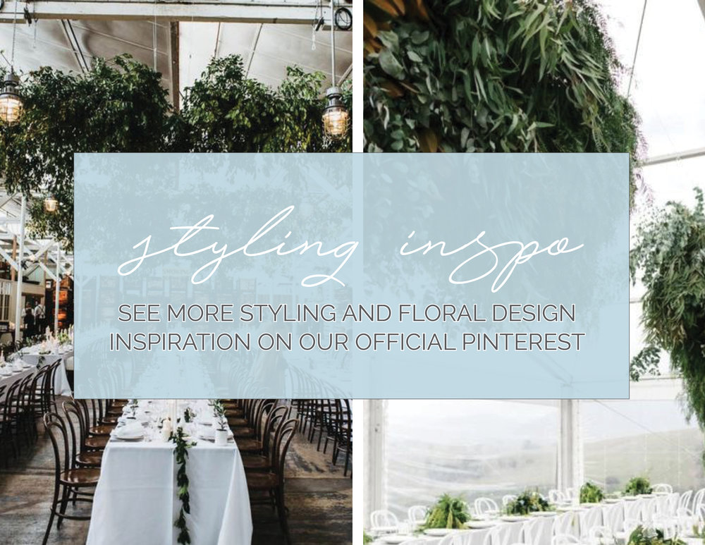 Styling Inspo - Floral Installations, Blue Willow Weddings