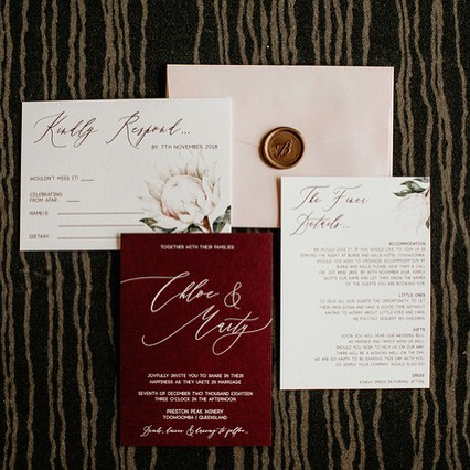 Invitation suite perfection for our C&M ✨ 📸 @edwinarobertson  Stationery design by our gal @jewelpaperco