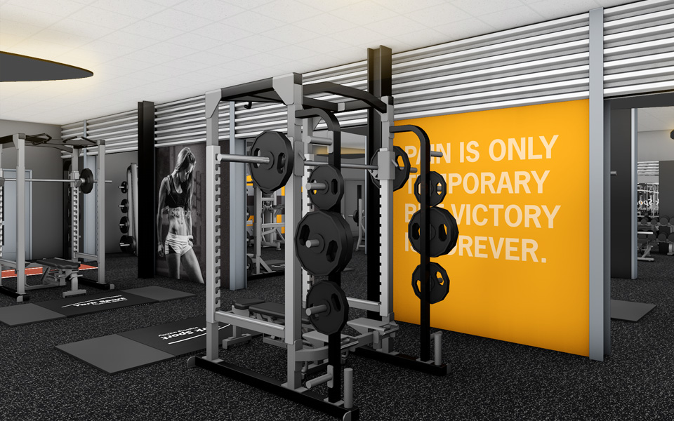 Design Concept And Brand Expression For University Strength Fitness Gym